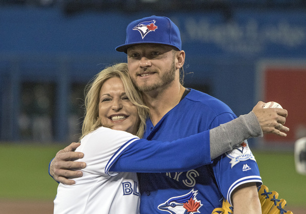 Josh Donaldson and his mom