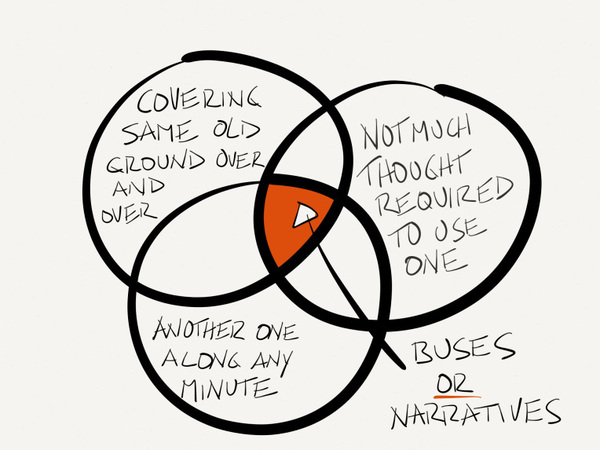 Narratives Are Like Buses Therell Be Another One Along In Any