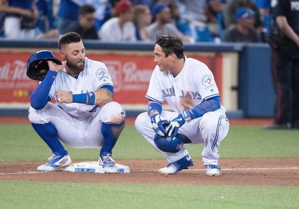 Kevin Pillar and Darwin Barney