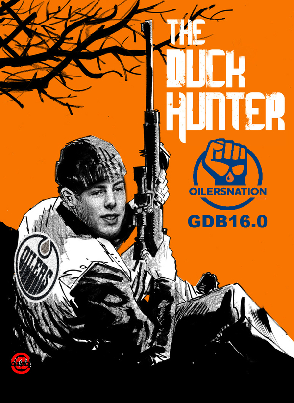 Image result for OILERS HUNTER WITH DUCK