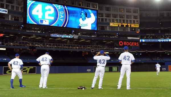 Blue Jays Players on Jackie Robinson Day