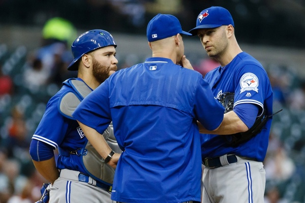 Russell Martin, Pete Walker, and J.A. Happ