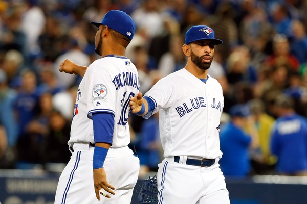 Edwin Encnaracion and Jose Bautista