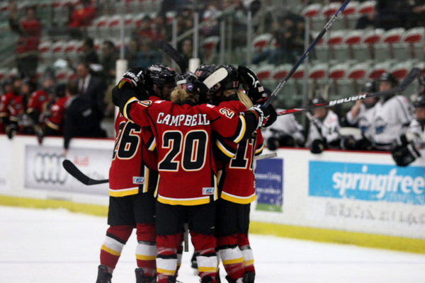 calgary inferno goal celly