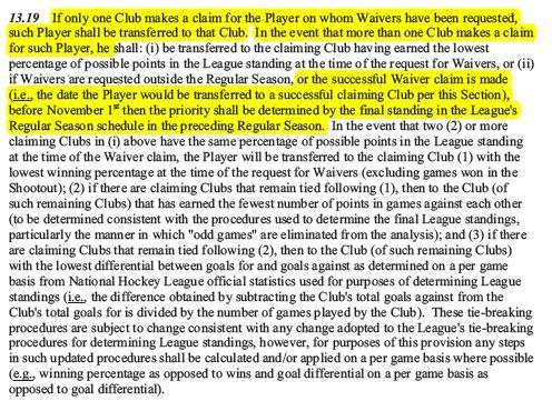 CBA - 13.19 Waiver Order