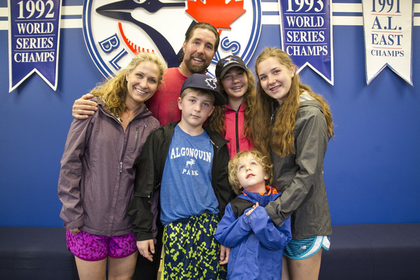 R.A. Dickey and family